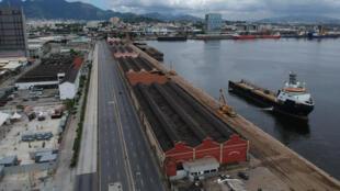 Esta foto de archivo del 24 de marzo de 2020 muestra una vista aérea del puerto de Rio de Janeiro