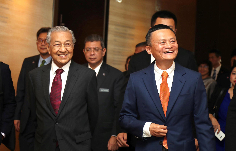 馬來西亞總理馬哈蒂爾參觀中國阿里巴巴集團總部 杭州 2018 8 18