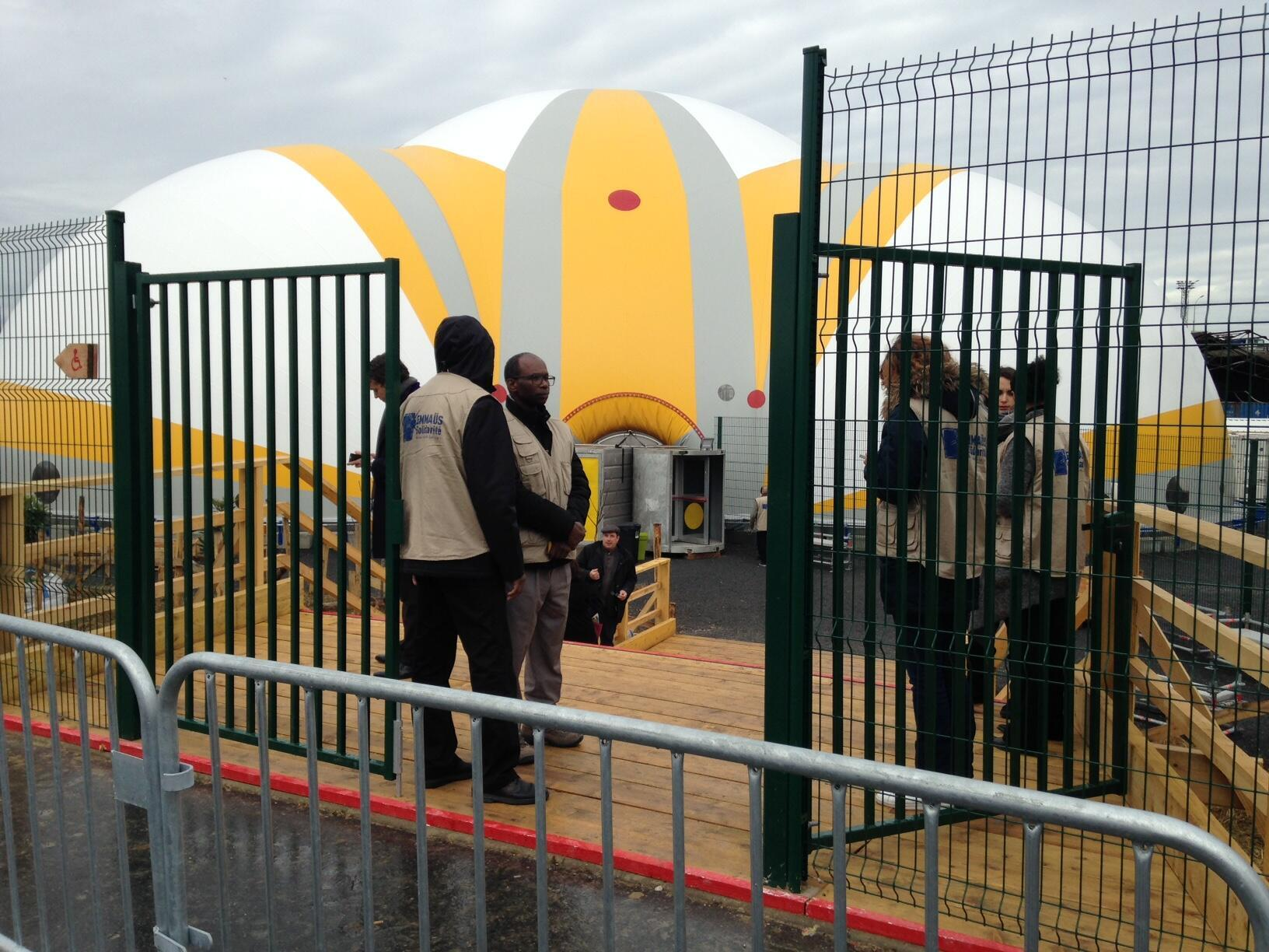 The Paris refugees' camp on Thursday