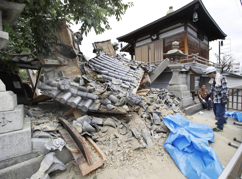 日本地震中受損的寺廟 2018年6月18日
