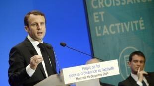 Emmanuel Macron a présenté son projet de loi sur la croissance et l'activité, le 10 décembre 2014.