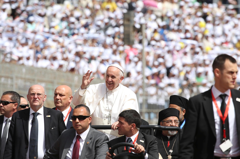 Papa Francisco no Cairo, Egito, 2017.