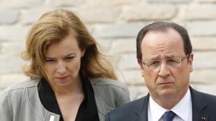 Президент Франсуа Олланд и его бывшая гражданская жена Валери Триервейлер