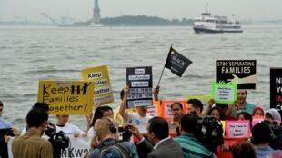 Manifestation de la Coalition Immigration New York, le 14 juillet 2014.