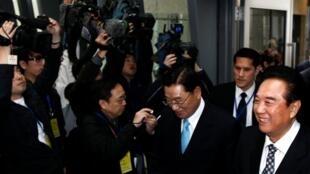 大陆海协会会长陈云林率团访问台湾  2011年2月23日台北