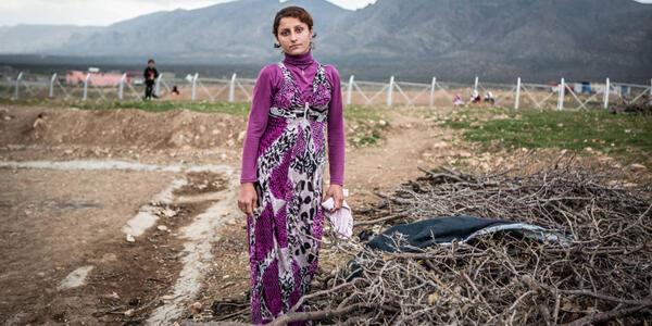 Une des photos de l'exposition sur les Yézidis à Bruxelles.