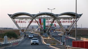 Vue de l'aéroport international d'Erbil dans le Kurdistan irakien, le 29 septembre 2017.