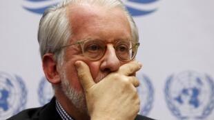 Paulo Sergio Pinheiro,  le chef de la commission d'enquête indépendante de l'ONU sur la Syrie.
