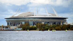 Le stade de Saint-Pétersbourg qui sera utilisé pour la Coupe du monde 2018.