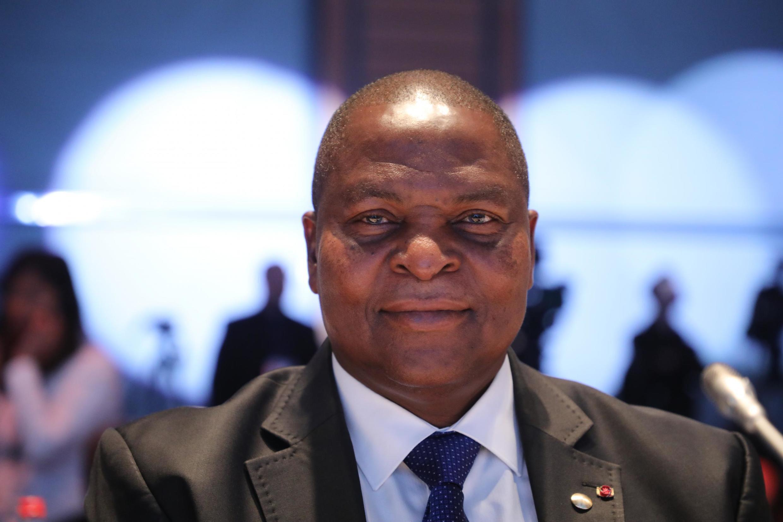 Le président centrafricain Faustin-Archange Toudéra, le 10 octobre 2019, à Lyon.