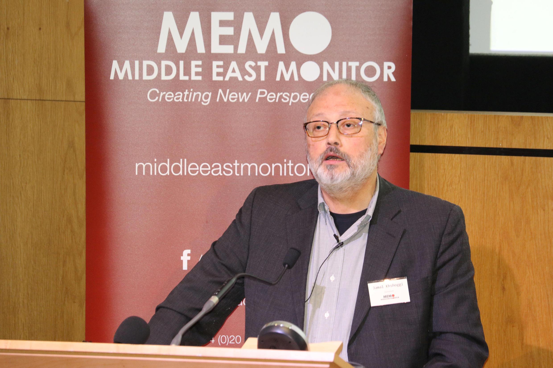جمال خاشقجی در لندن در ۲۹ سپتامبر سال ۲۰۱۸ میلادی