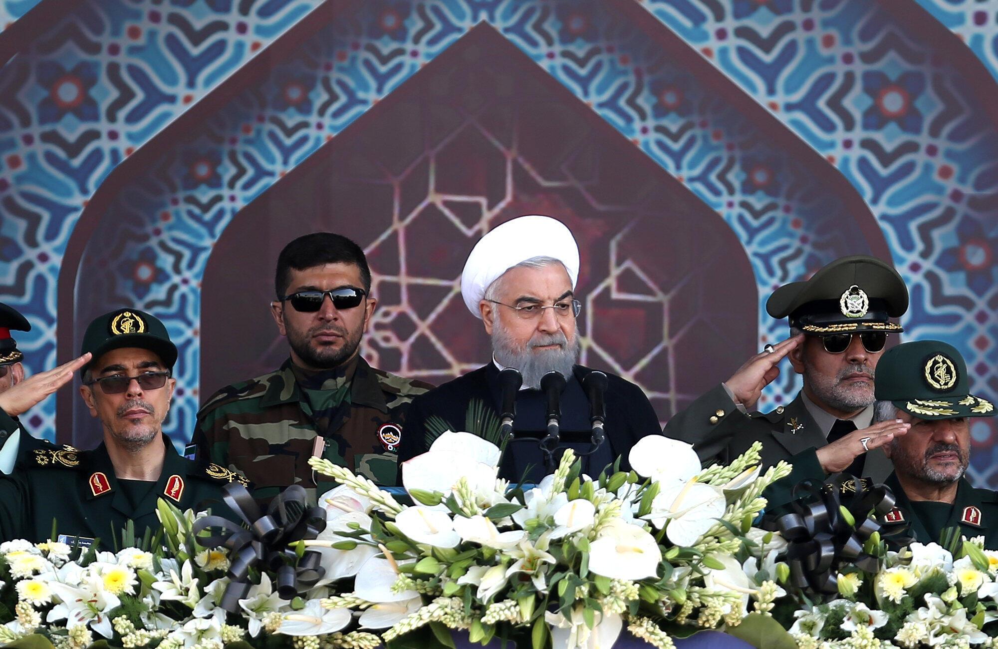 Shugaban kasar Iran Hassan Rouhani a birnin Teheran.