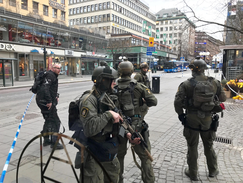 瑞典首都斯德哥爾摩2017年4月7日發生駕車撞人恐怖攻擊.