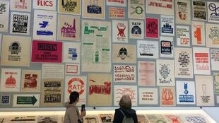 Some 600 political posters are on show as part of the Images en lutte exhibition