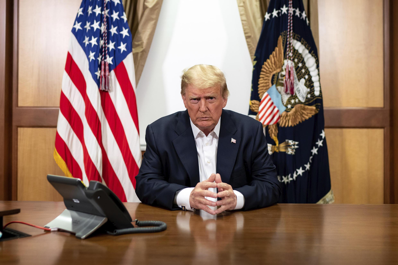 美國總統唐納德·特朗普2020年10月9日