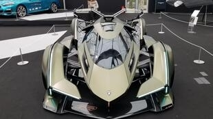 A car that turned many heads at the event was the Lamborghini V12 vision Gran Turismo