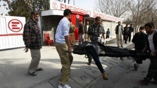 2011年12月6日喀布爾發生導致至少59人死亡的兩起自殺恐怖攻擊事件。