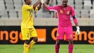 Le Malien Soumaïla Diakité (à droite) avec son partenaire.Souleymane Konaté.