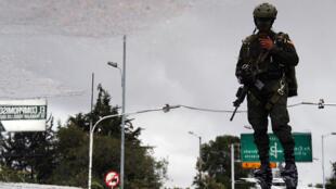 Un soldat colombien à Bogota, le 20 juillet 2016 (photo d'illustration).