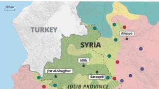 ادلب و نیروهای درگیر در منطقه