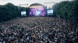 Polo & Pan en concierto en el festival de Rock en Seine. Parc de St Cloud, el 24 de agosto de 2019.