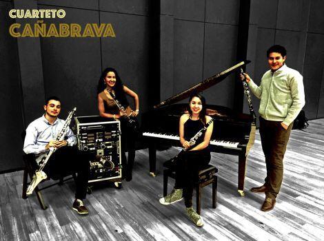 Integrantes del cuarteto CañaBrava