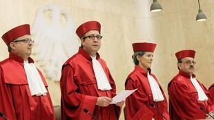 Les juges de la Cour constitutionnelle de Karlsruhe.