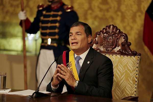 El presidente ecuatoriano Rafael Correa, el 15 de junio de 2015 en Quito.