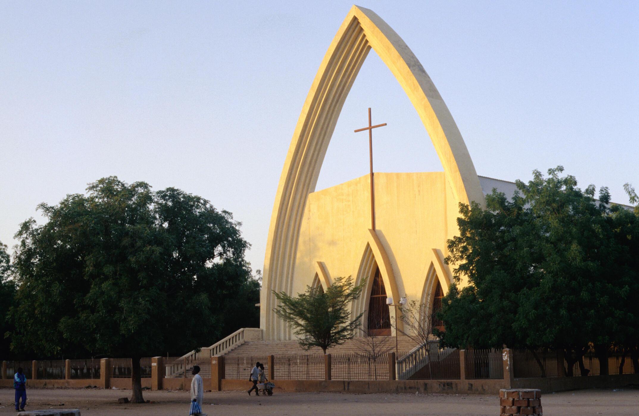 La cathédrale Notre-Dame de la Paix de Ndjamena.
