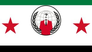 Capture d'écran du site du ministère de la Défense syrien après qu'il a été piraté par le collectif « Anonymous »