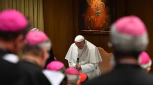Le pape François a réuni, le 21 février 2019, les chefs de l'Eglise pour réfléchir à la manière de faire face aux crimes de prêtres pédophiles.