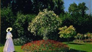 Tác phẩm Femme au jardin ( Người phụ nữ trong vườn) của danh họa Claude Monet (Musée de l'Ermitage)