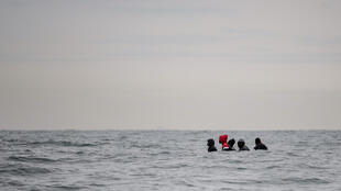 Migrants attempting to cross the Channel in a small boat in August