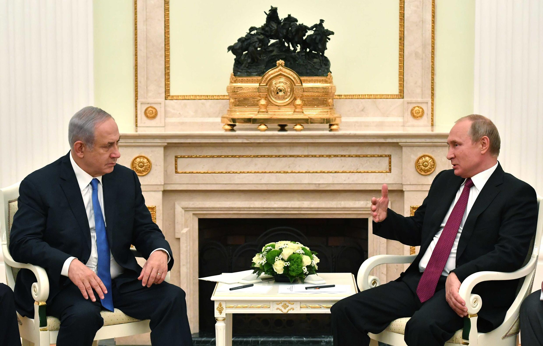 دیدار بنیامین نتانیاهو، نخستوزیر اسرائیل با ولادیمیر پوتین در مسکو. چهارشنبه ۲۰ تیر/ ١١ ژوئیه ٢٠۱٨