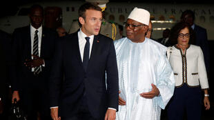 Emmanue Macron e o presidente do Mali, Ibrahim Boubacar Keita