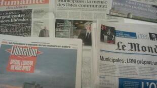 Primeiras páginas dos jornais franceses 25 de outubro de 2019