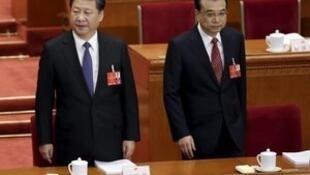 習李兩人在兩會上沒有互動。
