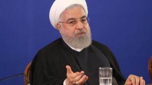 O Presidente  do Irão, Hassan Rohani. Agosto de 2019