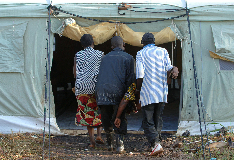 Cibiyar kula da masu fama da cutar amai da gudawa ta MSF, a Jamhuriyar Congo
