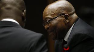 Rais wa zamani wa Afrika Kusini Jacob Zuma wakati wa kesi yake kwenye mahakama ya Pietermaritzburg Novemba 30, 2018.