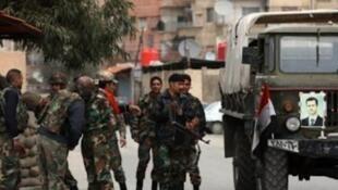 Har yanzu dakarun Syria suna yankunan 'Yan adawa