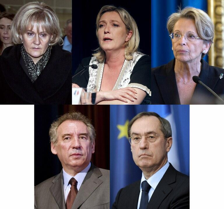 Nadine Morano, Marine Le Pen, Michèle Alliot-Marie, François Bayrou Claude Guéant ont tous été défaits lors des législatives du 17 juin 2012.