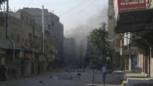 Bairro deTadamoune em Damasco, um dos principai locais de combates e bombardeios na capital da Síria