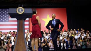 Tổng thống Obama gặp gỡ giới trẻ tại Sài Gòn ngày 25/05/2016.
