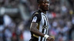 L'attaquant international tchadien d'Angers, Casimir Ninga.
