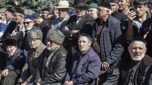 Участники митингов в Магасе (Ингушетия). 7 октября 2018 г.