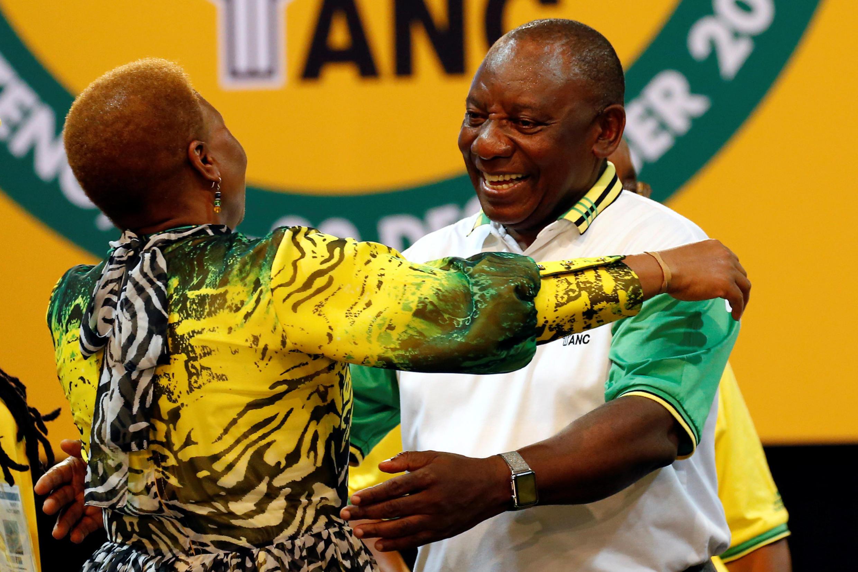 Le vice-président de l'ANC Cyril Ramaphosa a été élu à la tête de l'African national Congress le 18 décembre 2017.