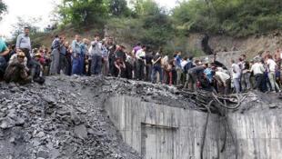 Le site de l'explosion dans la province du Golestan.