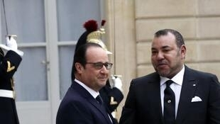 François Hollande and King Mohamed VI at the Elysee palace in February 2015