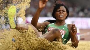 La Nigériane Blessing Okagbare lors des Mondiaux 2017 d'athlétisme.